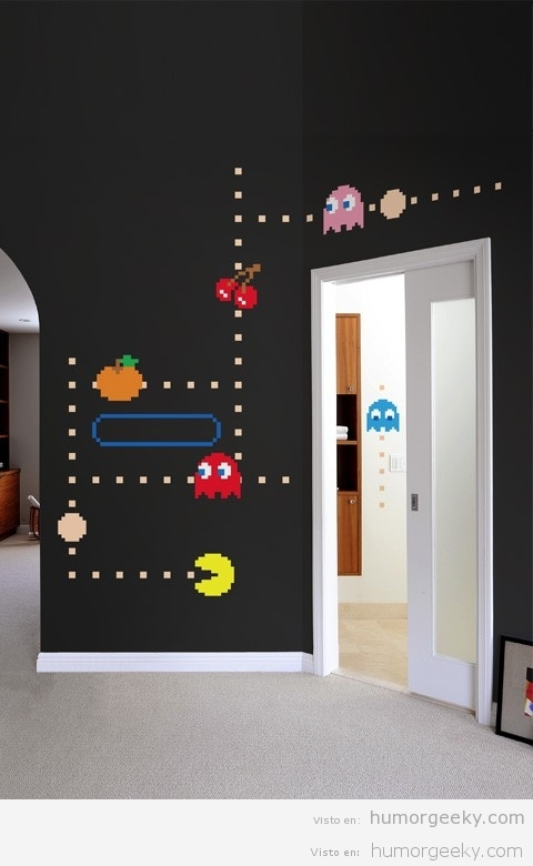 Para decorar tu casa a lo pac man humor geeky fotos de for Decoracion casa geek
