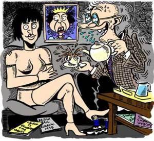 Cartoon of Prince Nigel by cartoonist Simon Ellinas