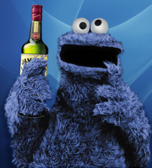 """Boozie Monster love whiskeys! UG GLUG GLUG!"""