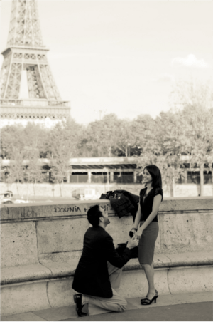 Ha! Now none of my friends will be able to afford trips to Paris because they'll have to buy a diamond ring, too!