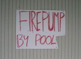 firepump sign