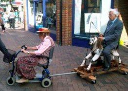Ride'em Grandpa!