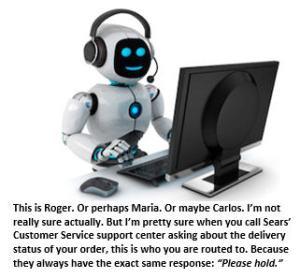 Sears - call center robot