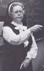 Sister Mary Barbara in 1973