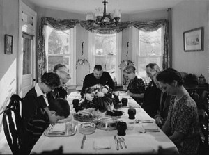 """""""Thanksgiving Grace"""" by Marjory Collins, Farm Security Administration"""