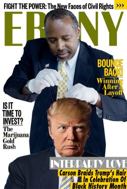 The hair bonding economic session is featured in the February 2016 issue of Ebony. Photo: Black Republicans For Trump.