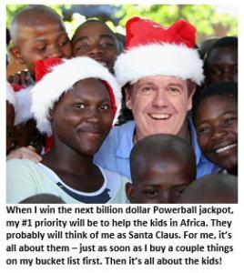 Powerball jackpot - Tim with kids