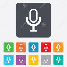 a microphone icon
