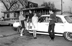 Image result for teens at drive in restaurant