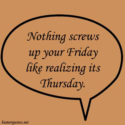 thursday funny quotes