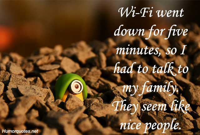 wi-fi went down for five minitues