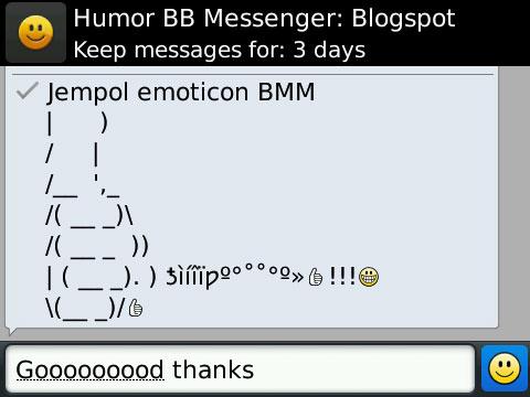 Jempol Emoticon BBM  Gambar Emoticon untuk Blackberry