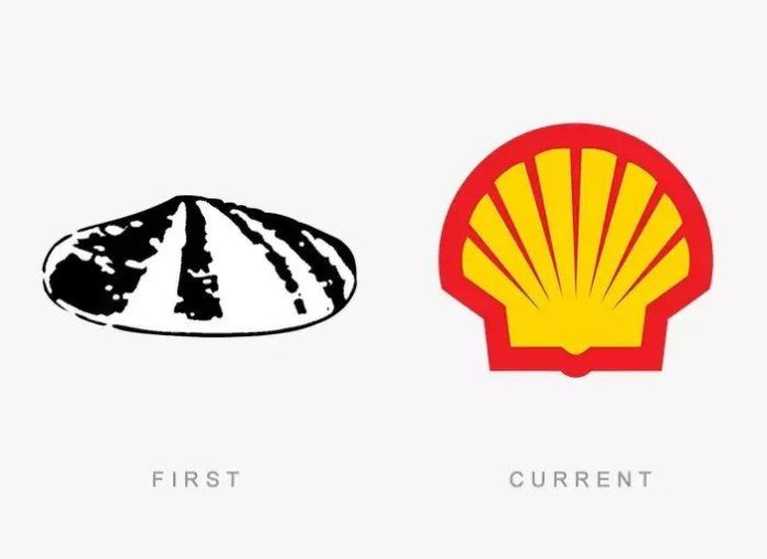 Shell Logo Then & Now