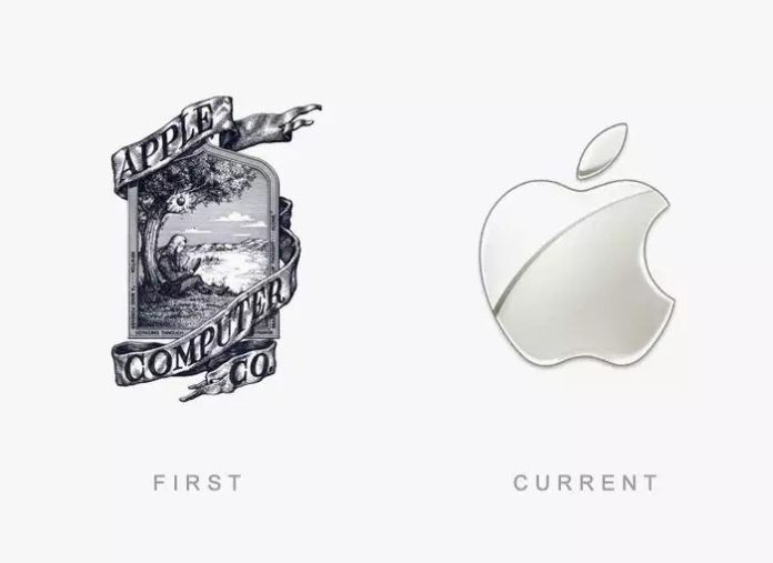 Apple Logo Then & Now