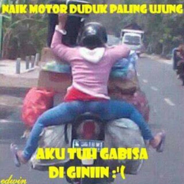 30 Gambar Meme Lucu Pengendara Motor Indonesia