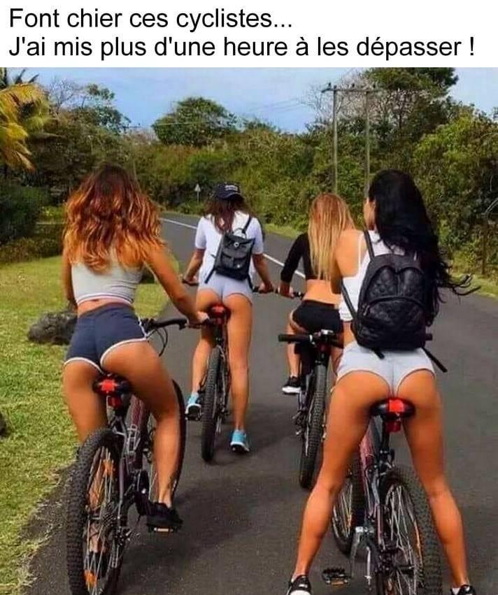 Font chier ces cyclistes...