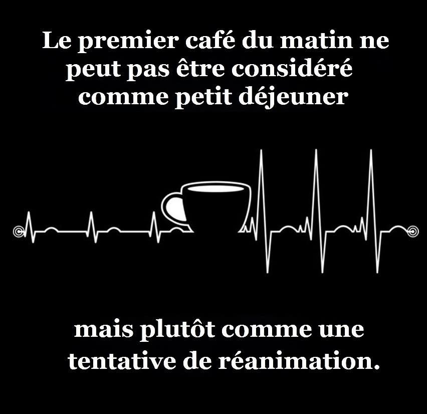 Le premier café du matin