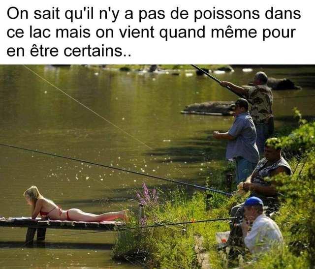 On sait qu'il n'y a pas de poissons dans le lac