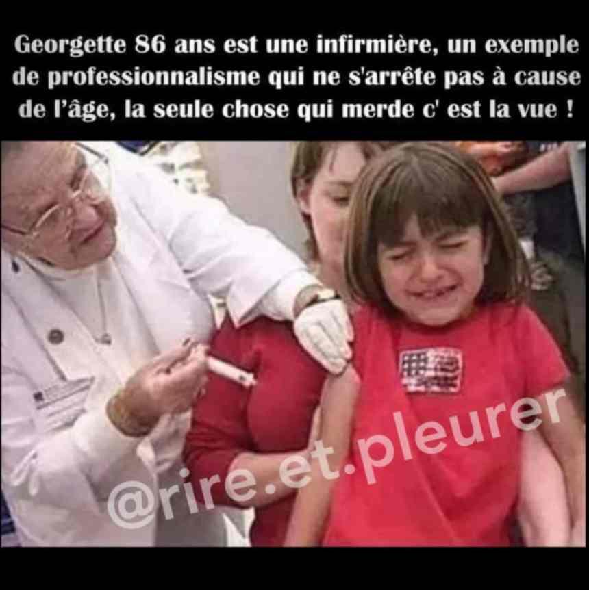 Georgette 86 ans est une infirmière