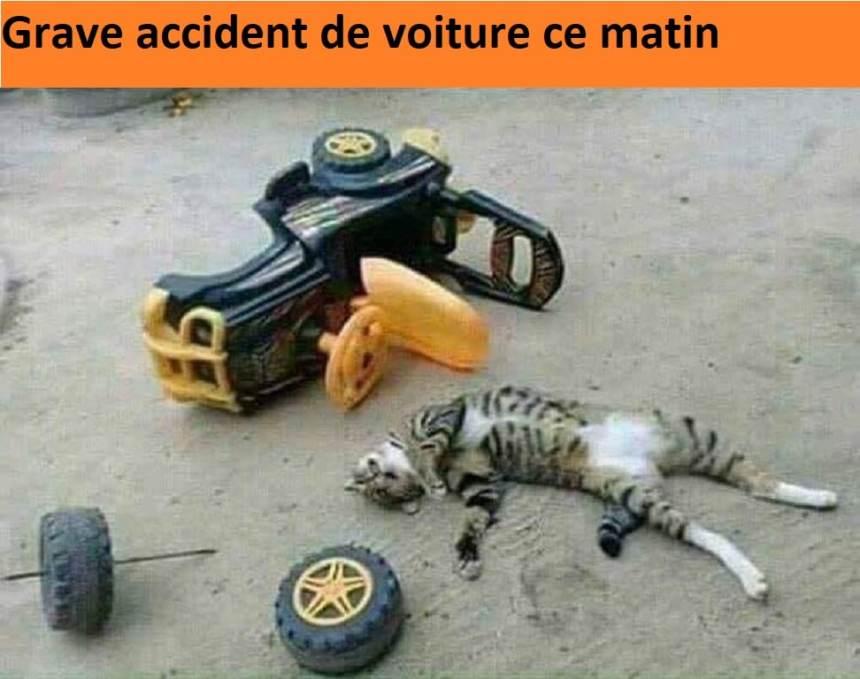 Grave accident de voiture ce matin