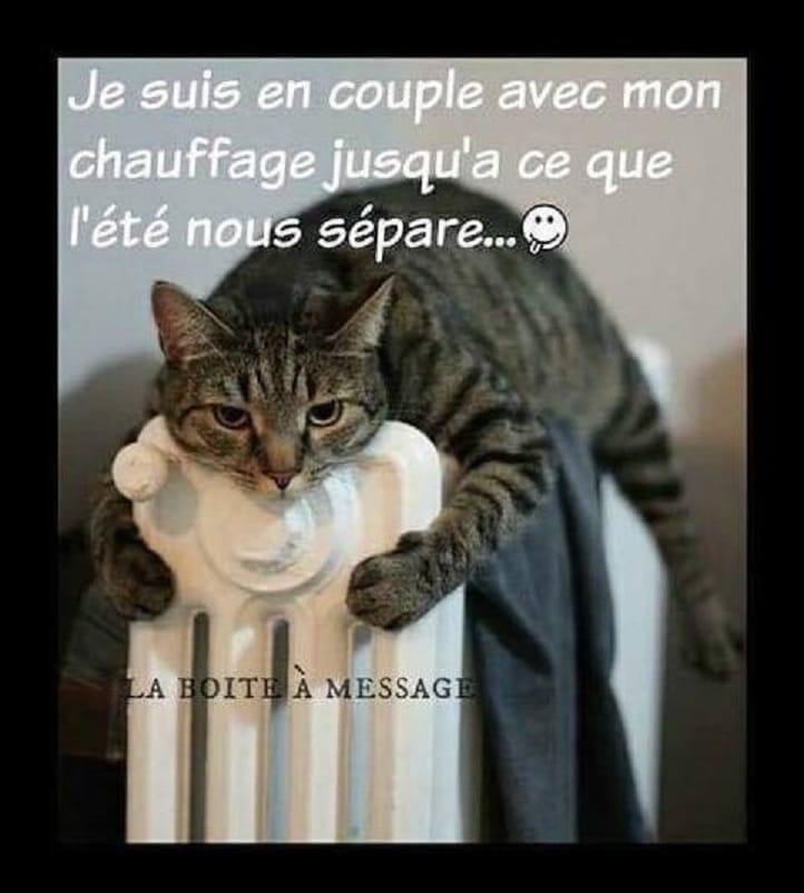 Je suis en couple avec mon chauffage - Humour-France.fr