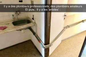 Il y a des plombiers professionnels