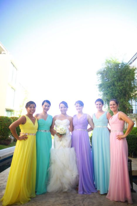 Love Or Loathe Rainbow Coloured Bridesmaid Dresses Humour Amp Style