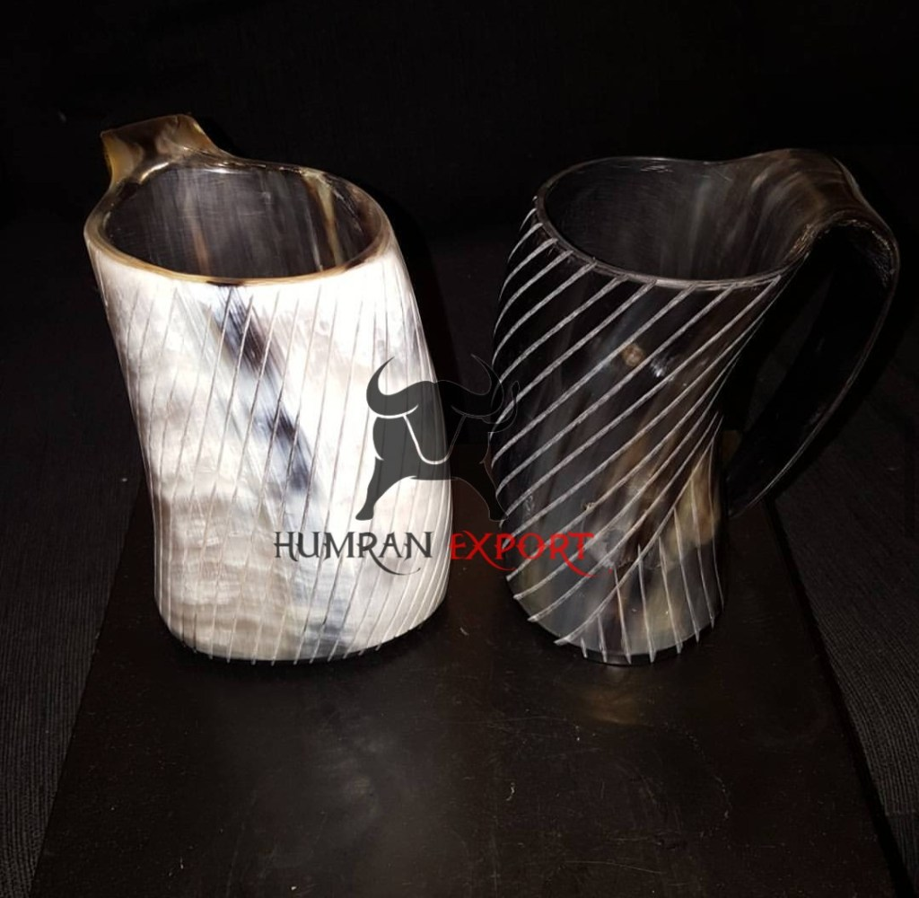 horn mug curving design