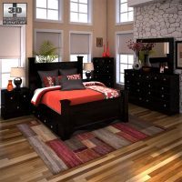 Ashley Shay Poster Bedroom Set 3D model