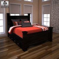 Ashley Shay Poster Bedroom Set 3D model - Humster3D