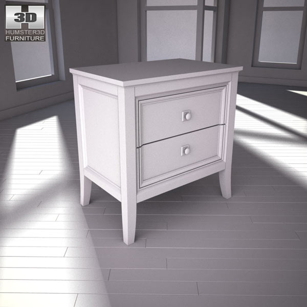 Ashley Martini Suite Nightstand 3D Model Humster3D