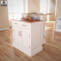 Woodbridge Two Tier Kitchen Island 3D model - Humster3D