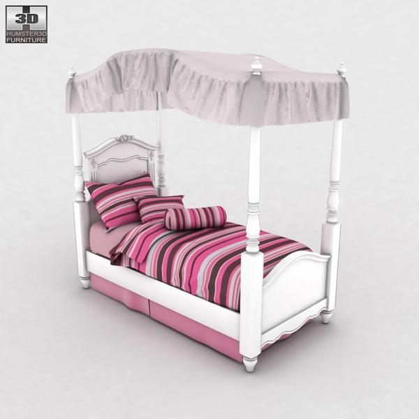 Ashley Exquisite Bedroom Set 3D model  Humster3D