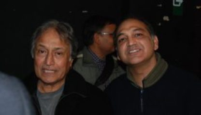 Asad with Ustad Amjad Ali khan