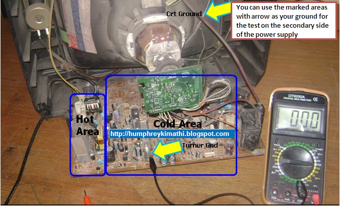 Sansui Tv Circuit Board Diagram Solving Power Supply Problems S M P S Hum Tech Electronics