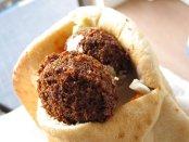 Falafel closeup