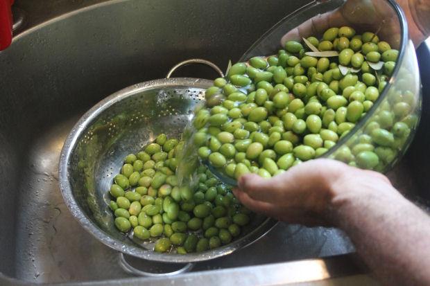 שוטפים את הזיתים היטב