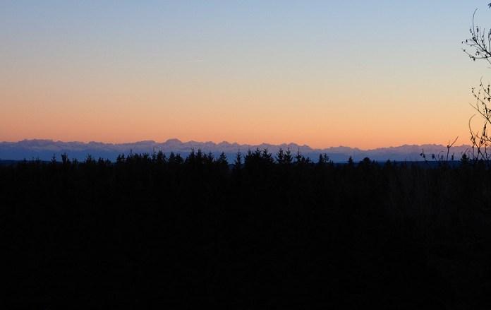 Alpenblick bei klarer Sicht