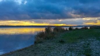 Sonnenuntergang am Hainer See
