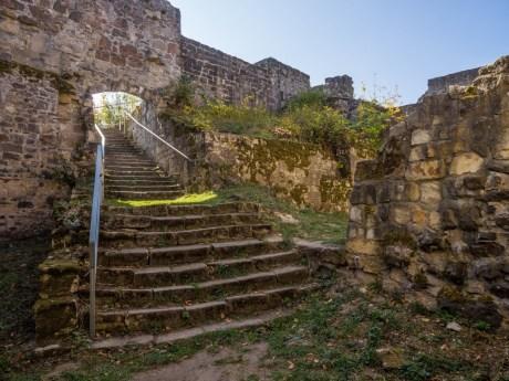 Treppenaufgang im Inneren der Burg