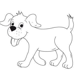 Ausmalbild Hund Labrador - Ausmalbild Kostenlos