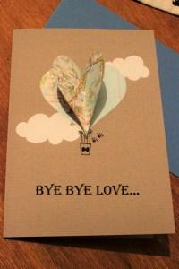 Valentinstagskarte mit Heißluftballon