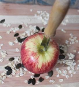 Barfen Apfel Barfleckerli selbermachen Hunderezept