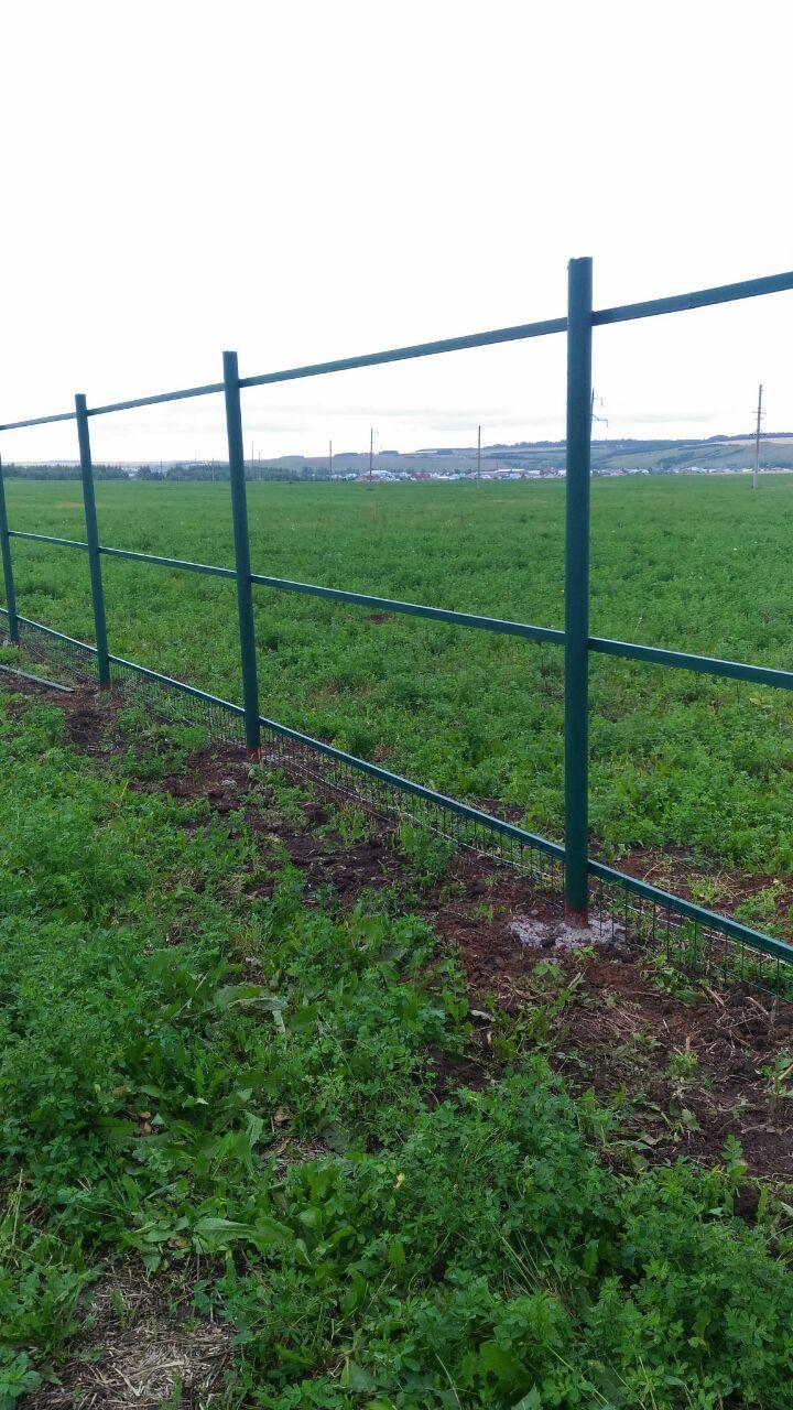 Der Zaun wird gebaut