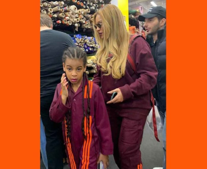 Blue Ivy and Beyonce in Ivy Park