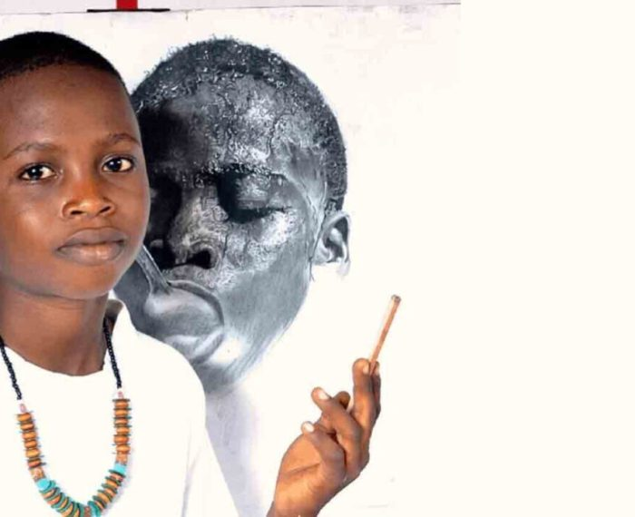 14 year old Nigerian hyperrealism artist Kareem Waris is an inspiration to 500000 African kids living in poverty