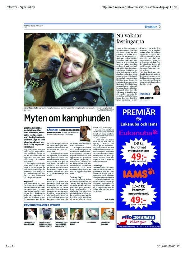 Artikel av Bodil Sjöstrtöm publicerad i flertalet lokaltidningar