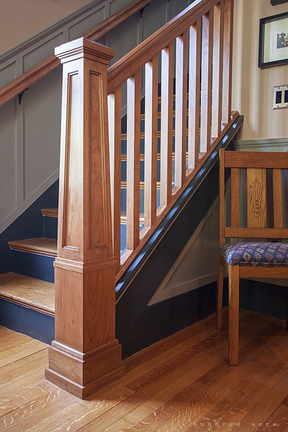 Newel Post – Hundred Acre Design   Craftsman Style Newel Post   Shaker   Construction   Colonial Elegance   Antique   1930 Style