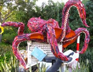 Octavio the Octopus is an example of art from plastic