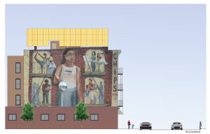 community mural on the Brooklyn microgrid building